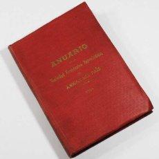 Libros antiguos: ANUARIO DE LA SOCIEDAD ECONOMICA BARCELONESA AMIGOS DEL PAIS 1926 TAPA DURA 13 X 9,50 CM. Lote 77451689