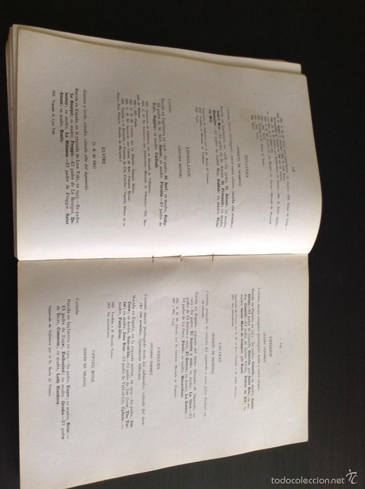 Libros antiguos: Libro Registro Matrícula Caballos de Pura Sangre 1922 - 1923 - Foto 2 - 77520509