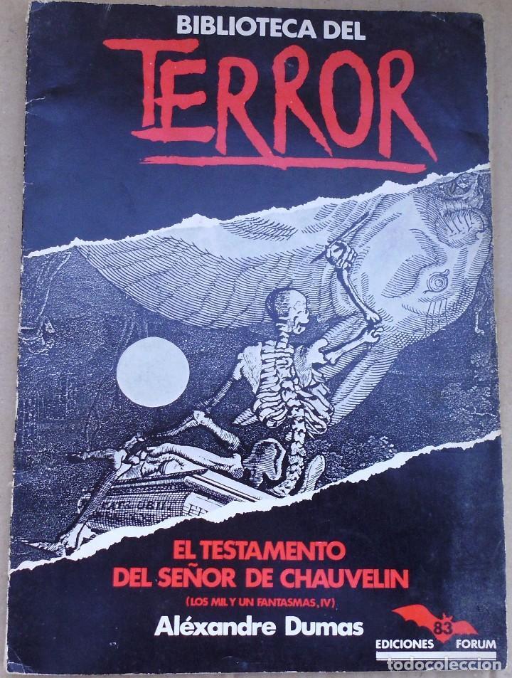 BIBLIOTECA DEL TERROR DE ALEXANDRE DUMAS (Libros Antiguos, Raros y Curiosos - Pensamiento - Otros)