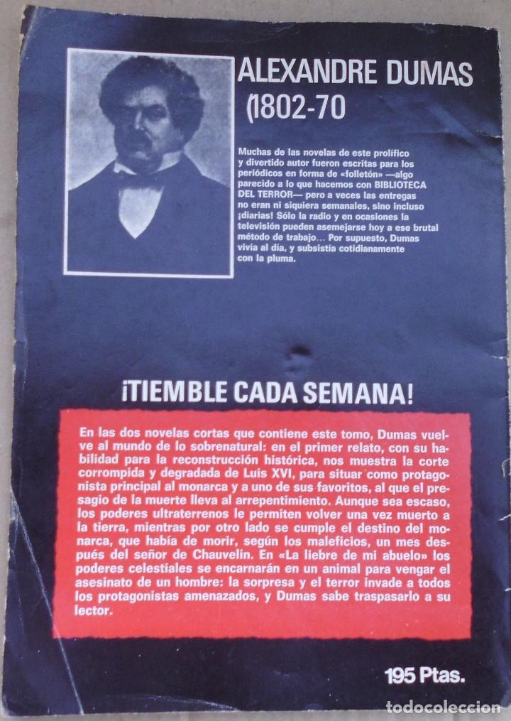 Libros antiguos: BIBLIOTECA DEL TERROR DE ALEXANDRE DUMAS - Foto 2 - 77580621