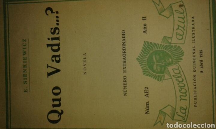 LIBRO QUO VADIS (Libros Antiguos, Raros y Curiosos - Literatura - Otros)