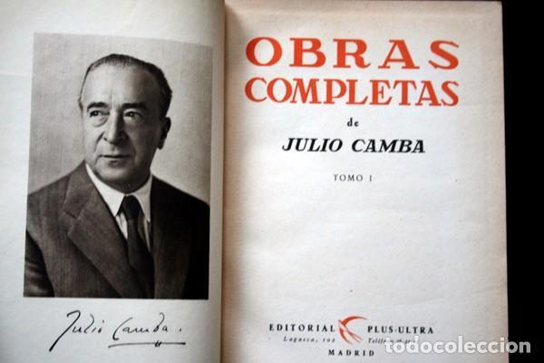 JULIO CAMBA - OBRAS COMPLETAS - TOMO I - (Libros antiguos (hasta 1936), raros y curiosos - Literatura - Narrativa - Otros)
