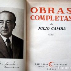 Libros antiguos: JULIO CAMBA - OBRAS COMPLETAS - TOMO I -. Lote 77816957