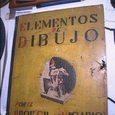 Libros antiguos: CARPETA ESCOLAR ELEMENTOS DE DIBUJO.1935.PROF.GIL DE VICARIO.BARCELONA.. Lote 77906069