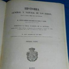 Libros antiguos - (MF) JOSE AMADOR DE LOS RIOS - HISTORIA GENERAL Y NATURAL DE LAS INDIAS, MADRID 1851, CUBA - 77908257