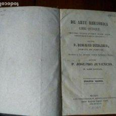 Libros antiguos: DE ARTE RHETORICA LIBRI QUINQUE. DOMINICO DECOLONIA (1861). Lote 77920137