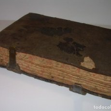 Libros antiguos: ANTIQUISIMO LIBRO TAPAS DE PIEL..MANUSCRITO EN CATALAN..CENSALES DE VALLS,MONTBLANC, POBLET. ETC.. Lote 78175745