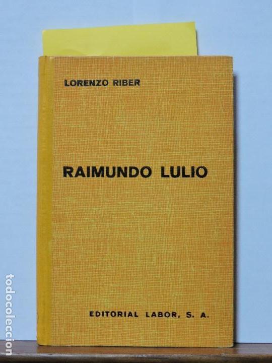 """RAIMUNDO LULIO (RAMÃ""""N LLULL). RIBER, LORENZO. COL. PRO ECCLESIA ET PATRIA. ED. LABOR. BARCELONA 1949 (Libros Antiguos, Raros y Curiosos - Bellas artes, ocio y coleccionismo - Otros)"""