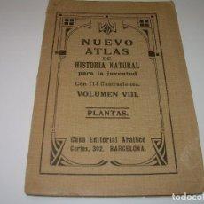 Libros antiguos: NUEVO ATLAS DE HISTORIA NATURAL...EPOCA MODERNISTA..CON 114 ILUSTRACIONES DE PLANTAS.. Lote 78291109
