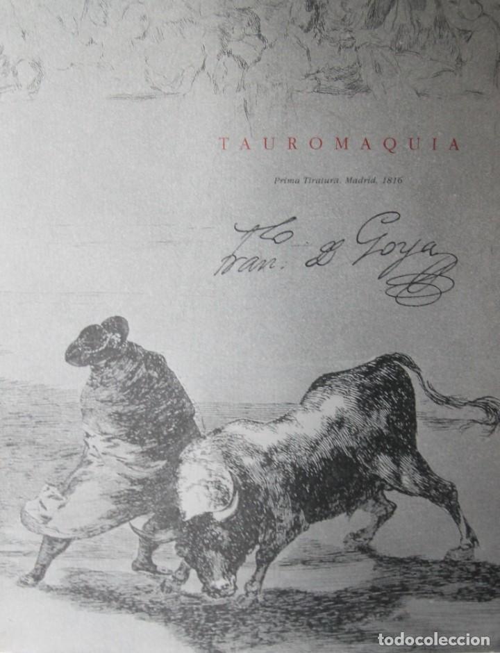 LIBRO TAUROMAQUIA FRANCISCO DE GOYA EN ESPAÑOL E ITALIANO 77 PAGINAS 33 ESTAMPAS DEL ORIGINAL (Libros Antiguos, Raros y Curiosos - Pensamiento - Otros)