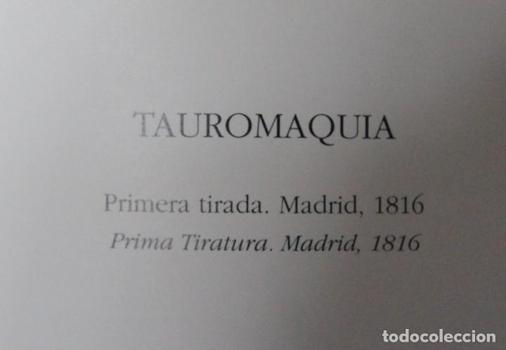 Libros antiguos: LIBRO TAUROMAQUIA FRANCISCO DE GOYA EN ESPAÑOL E ITALIANO 77 PAGINAS 33 ESTAMPAS DEL ORIGINAL - Foto 4 - 78316797