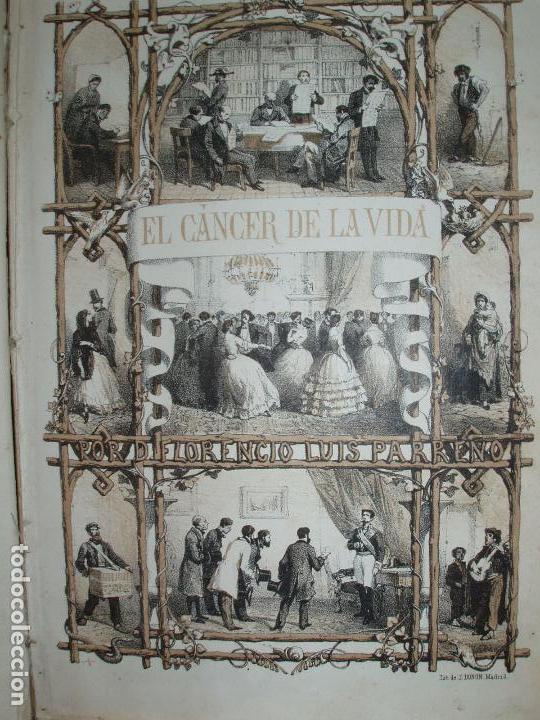 Libros antiguos: EL CANCER DE LA VIDA, POR FLORENCIO LUIS PARREÑO. 7 LAMINAS DE J. VALLEJO. - Foto 2 - 78338705
