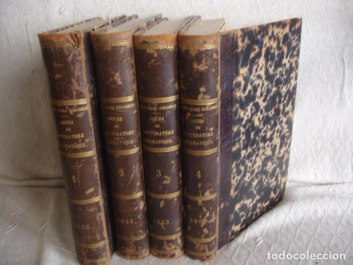 HISTORIA DE LA LITERATURA SAINT MARC GIRARDIN COURS DE LITTERATURE 1855 (Libros Antiguos, Raros y Curiosos - Literatura - Otros)