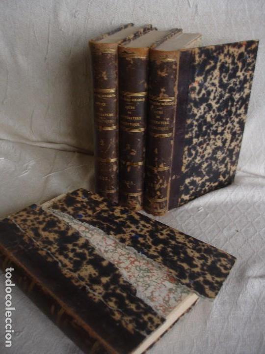 Libros antiguos: Historia de la literatura Saint Marc Girardin Cours de litterature 1855 - Foto 2 - 78350885