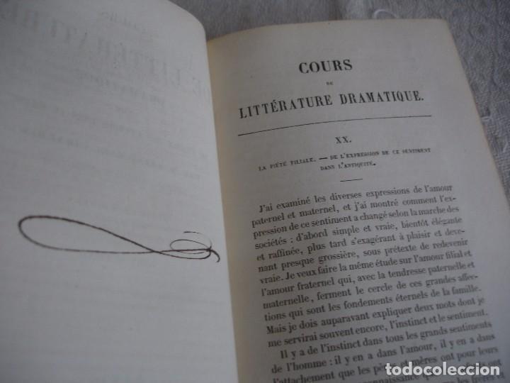 Libros antiguos: Historia de la literatura Saint Marc Girardin Cours de litterature 1855 - Foto 8 - 78350885