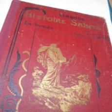 Libros antiguos: ABBE L. JAUD: GRANDE HISTOIRE SAINTE EN LEÇONS - EN IMAGES AUX ENFANTS - AUX MERES CHRETIENNES. . Lote 78356681