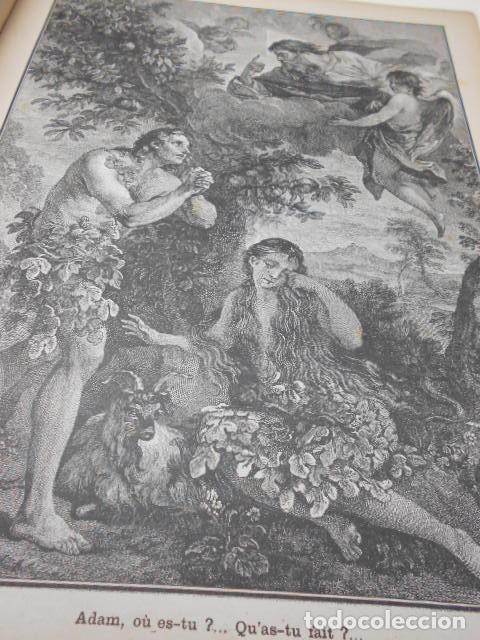 Libros antiguos: ABBE L. JAUD: GRANDE HISTOIRE SAINTE EN LEÇONS - EN IMAGES AUX ENFANTS - AUX MERES CHRETIENNES. - Foto 3 - 78356681