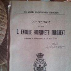 Libros antiguos: EL GOLFO EN LA NOVELA PICARESCA Y EL GOLFO EN MADRID. ENRIQUE ZARANDIETA MIRABENT. Lote 78436025