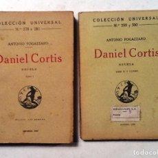 Libros antiguos: DANIEL CORTIS TOMO I Y II ANTONIO FOGAZZARO COLECCION UNIVERSAL Nº 278 A 280, 299 Y 300 INTONSO . Lote 78585381
