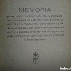 Libros antiguos: MEMORIA DEL GOBIERNO CIVIL DE OVIEDO. 1926. Lote 76153075