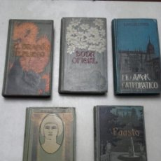 Libros antiguos: EL DRAGON DE FUEGO, EROTICA, FAUSTO, BODA OFICIAL, EL AMOR CATEDRATICO. DOMENECH EDITOR.. Lote 78791334