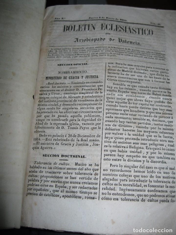 Libros antiguos: periodicos UN AÑO 1885 BOLETIN ECLESIASTICO ARZOISPO DE VALENCIA Siglo XIX MPRENTA EL VALENCIANO - Foto 2 - 78837001