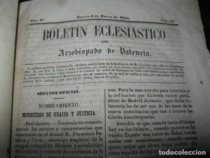 Libros antiguos: periodicos UN AÑO 1885 BOLETIN ECLESIASTICO ARZOISPO DE VALENCIA Siglo XIX MPRENTA EL VALENCIANO - Foto 3 - 78837001