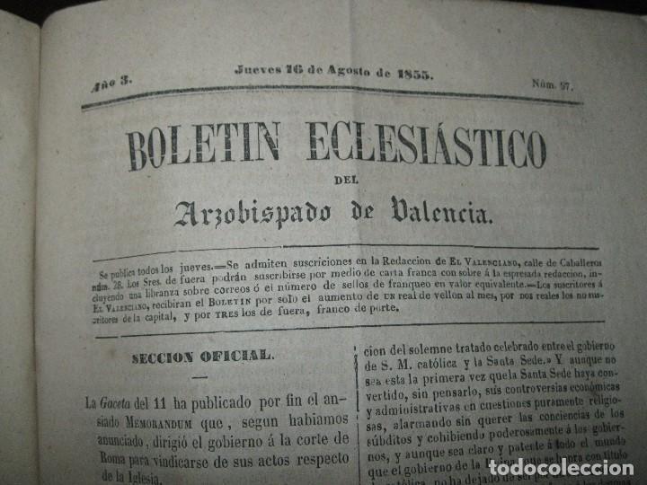 Libros antiguos: periodicos UN AÑO 1885 BOLETIN ECLESIASTICO ARZOISPO DE VALENCIA Siglo XIX MPRENTA EL VALENCIANO - Foto 8 - 78837001