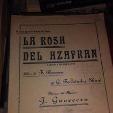 Livros antigos: LA ROSA DEL AZAFRAN. Lote 78873981