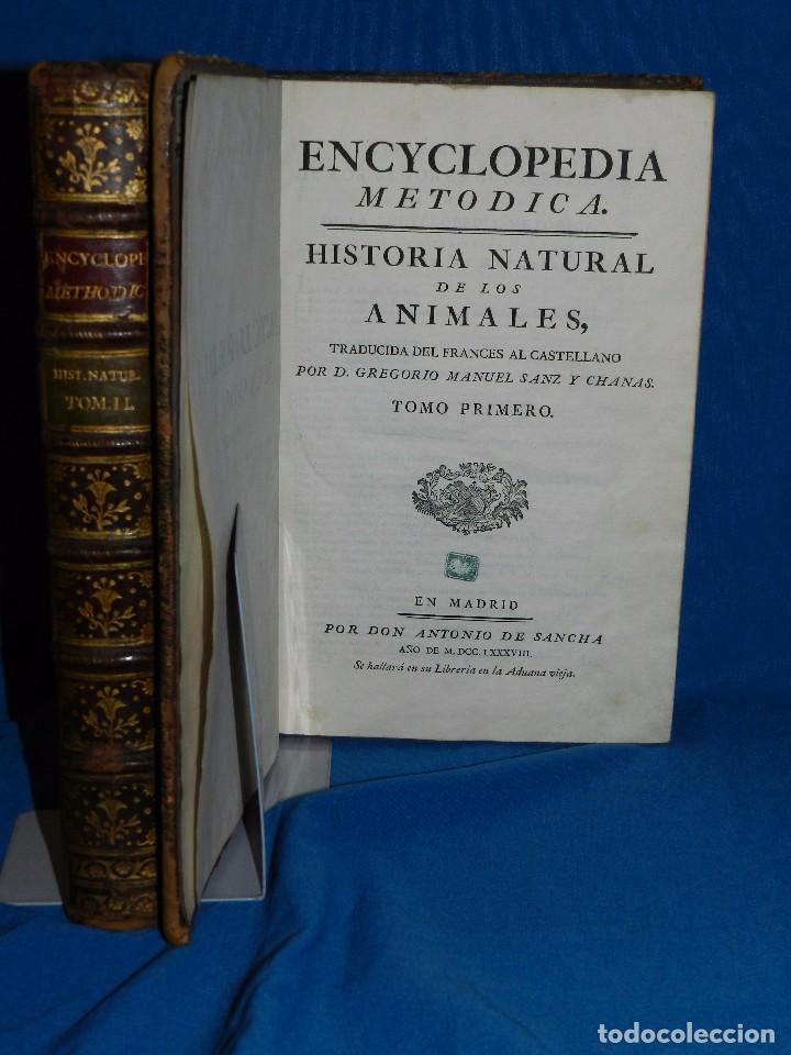 (MF) D GREGORIO MANUEL SANZ Y CHANAS - HISTORIA NATURAL DE LOS ANIMALES MDCCLXXXVIII (COMPLETO) (Libros Antiguos, Raros y Curiosos - Ciencias, Manuales y Oficios - Otros)