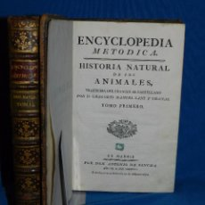 Libros antiguos: (MF) D GREGORIO MANUEL SANZ Y CHANAS - HISTORIA NATURAL DE LOS ANIMALES MDCCLXXXVIII (COMPLETO) . Lote 79003741