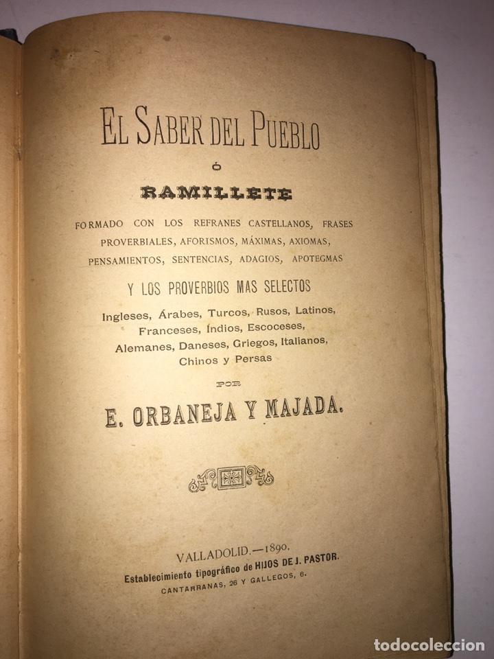 Libros antiguos: Orbaneja y Majada El Saber del Pueblo o Ramillete Año 1890 - Foto 4 - 79167185