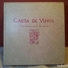 Libros antiguos: CARTA DE VINOS, I GUÍA INTERNACIONAL DEL VINO ESPAÑOL, PEDECA MADRID 1981, 379 PÁGS,)(REF-1AC-2). Lote 79170429