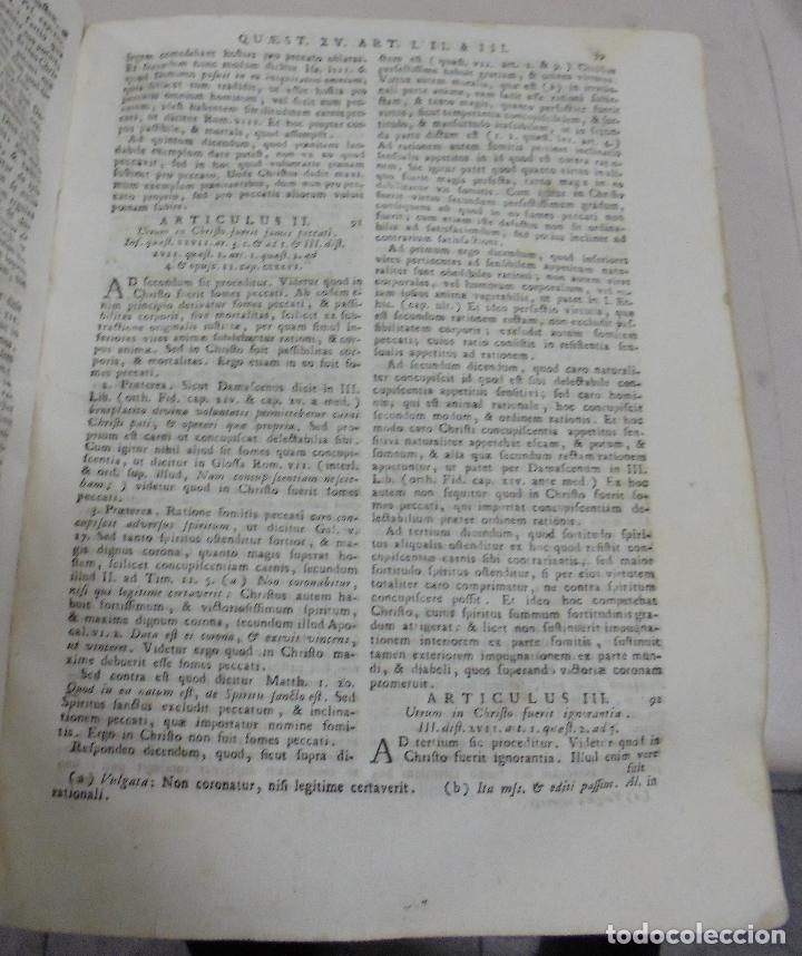 Libros antiguos: DIVI THOME AQUINATIS DOCTORIS ANGELICI. SIGLO XVIII. 7 TOMOS. VENETIIS. COMPLETA. VER FOTOS - Foto 8 - 79258733