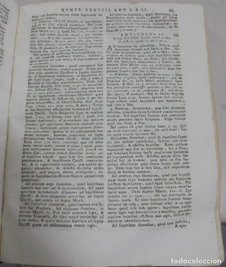 Libros antiguos: DIVI THOME AQUINATIS DOCTORIS ANGELICI. SIGLO XVIII. 7 TOMOS. VENETIIS. COMPLETA. VER FOTOS - Foto 9 - 79258733