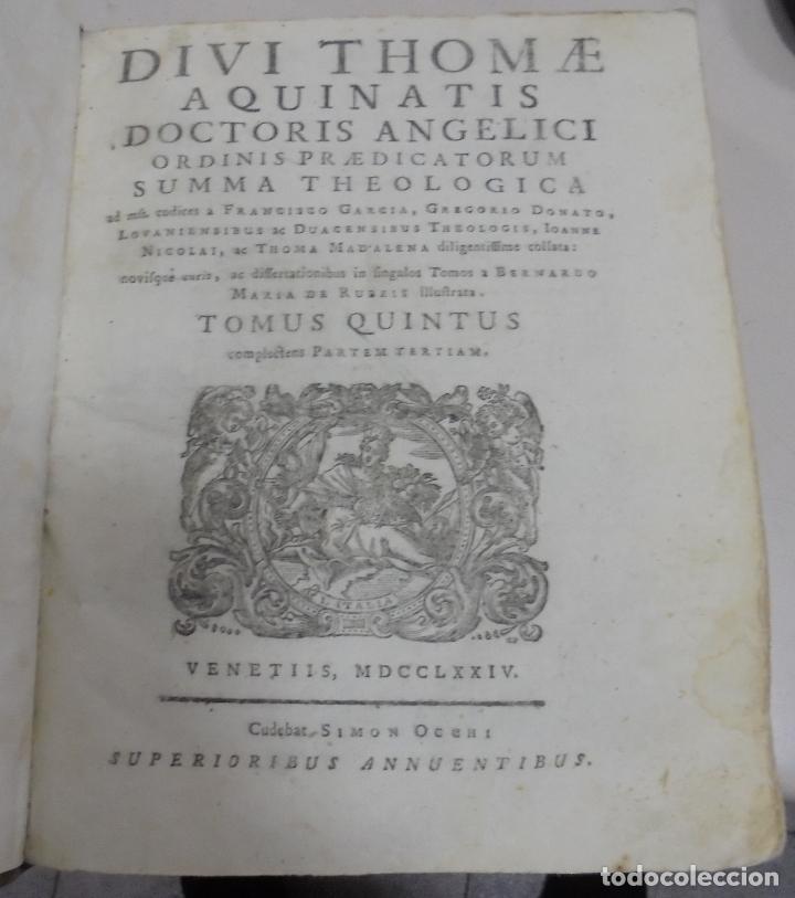 Libros antiguos: DIVI THOME AQUINATIS DOCTORIS ANGELICI. SIGLO XVIII. 7 TOMOS. VENETIIS. COMPLETA. VER FOTOS - Foto 10 - 79258733