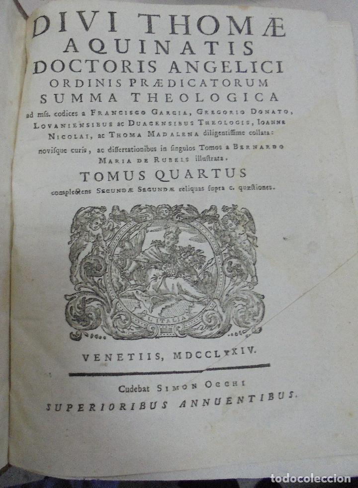 Libros antiguos: DIVI THOME AQUINATIS DOCTORIS ANGELICI. SIGLO XVIII. 7 TOMOS. VENETIIS. COMPLETA. VER FOTOS - Foto 11 - 79258733
