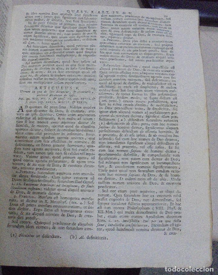 Libros antiguos: DIVI THOME AQUINATIS DOCTORIS ANGELICI. SIGLO XVIII. 7 TOMOS. VENETIIS. COMPLETA. VER FOTOS - Foto 14 - 79258733