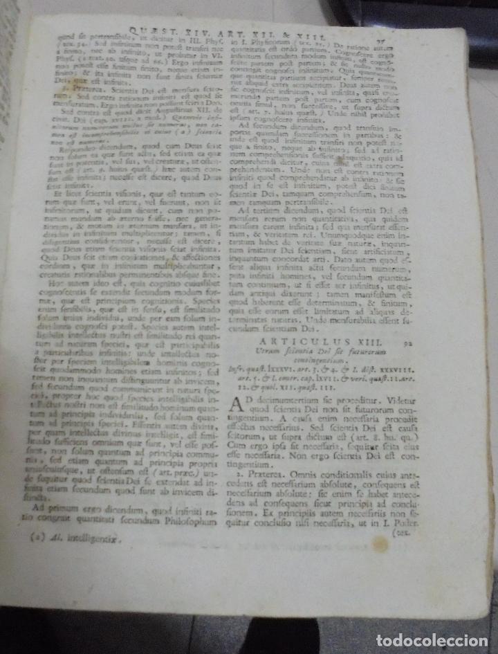Libros antiguos: DIVI THOME AQUINATIS DOCTORIS ANGELICI. SIGLO XVIII. 7 TOMOS. VENETIIS. COMPLETA. VER FOTOS - Foto 15 - 79258733