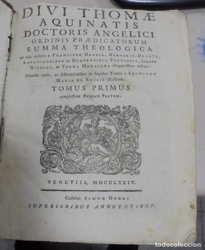 Libros antiguos: DIVI THOME AQUINATIS DOCTORIS ANGELICI. SIGLO XVIII. 7 TOMOS. VENETIIS. COMPLETA. VER FOTOS - Foto 16 - 79258733
