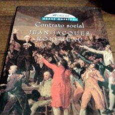 Libros antiguos: CONTRATO SOCIAL. Lote 79302353