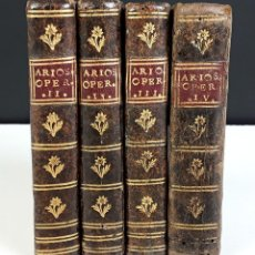 Libros antiguos: OPERE DI LODOVICO ARIOSTO. 3 VOLÚM. EN 4 TOMOS. (VER DESCRIP). A SPESE REMONDINI DI VENEZIA. 1780.. Lote 79711653