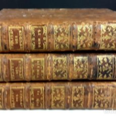 Libros antiguos: DE LA MANIERE D'ENSEIGNER ET D'ETUDIER LES BELLES-LETTRES. 3 TOMOS(VER DESCRIP). M. ROLLIN. 1755/65.. Lote 79731037