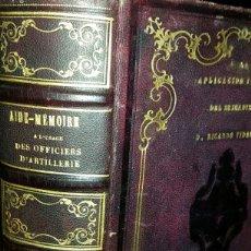 Livres anciens: AIDE-MÉMOIRE A L´USAGE DES OFFICIERS D´ARTILLERIE. 1861. Lote 80047593