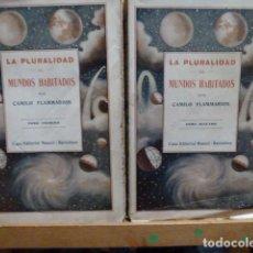 Libros antiguos: LA PLURALIDAD DE LOS MUNDOS HABITADOS DE CAMILO FLAMMARION-2 TOMOS. Lote 80054665