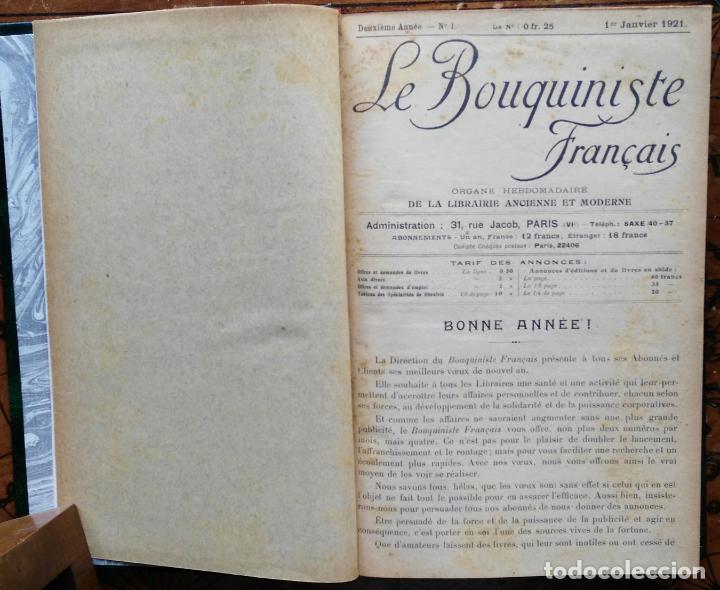 Libros antiguos: LE BOUQUINISTE FRANCAIS – (de l'any 1921 al any 1927) – 168 fascicles - 1 Volum - Foto 4 - 80100281