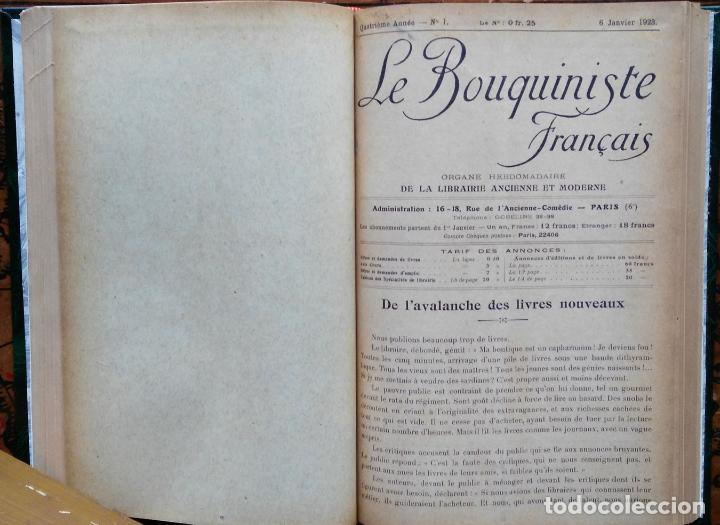 Libros antiguos: LE BOUQUINISTE FRANCAIS – (de l'any 1921 al any 1927) – 168 fascicles - 1 Volum - Foto 5 - 80100281