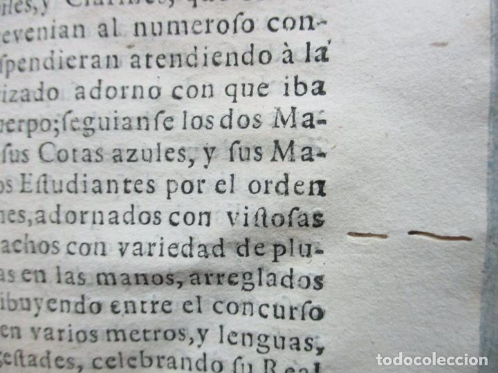 Libros antiguos: FESTIVAS DEMONSTRACIONES, Y MAGESTUOSOS OBSEQUIOS,.. 1702. - Foto 6 - 80224645