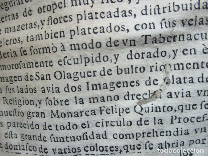 Libros antiguos: FESTIVAS DEMONSTRACIONES, Y MAGESTUOSOS OBSEQUIOS,.. 1702. - Foto 7 - 80224645