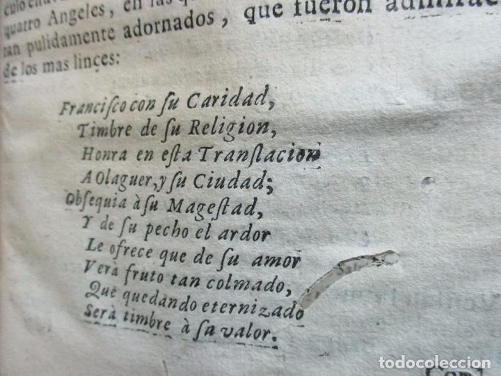 Libros antiguos: FESTIVAS DEMONSTRACIONES, Y MAGESTUOSOS OBSEQUIOS,.. 1702. - Foto 9 - 80224645